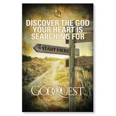 GodQuest Sign Post Postcard
