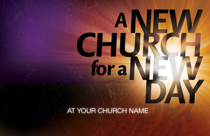 Church Postcard - New Church - Outreach Marketing