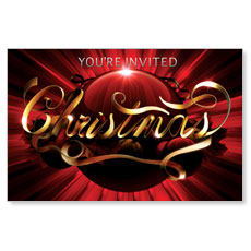 Christmas Red Ornament Postcard