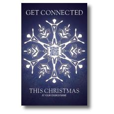 QR Snowflake Postcard