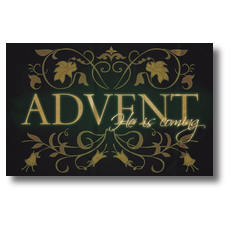 Advent Is Coming Postcard