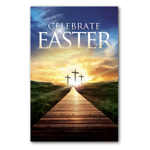 Easter Crosses Path Postcards