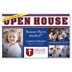Christian School Open House Postcard