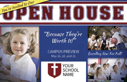 School Open House Postcard Church Postcards Outreach Marketing
