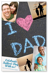 Fathers Day Invited Postcards
