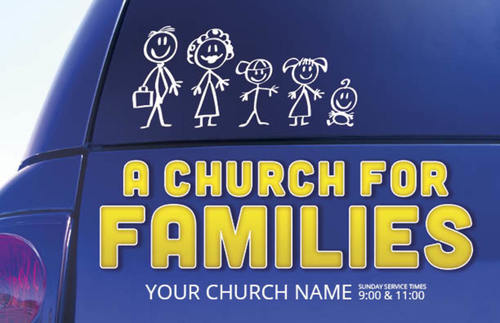 church for families postcard - church postcards