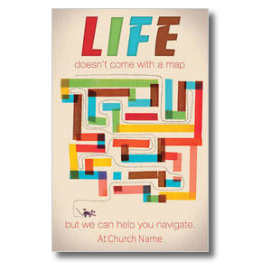 Life Map Postcards