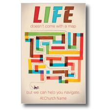Life Map Postcard