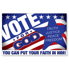 Vote for God Postcard
