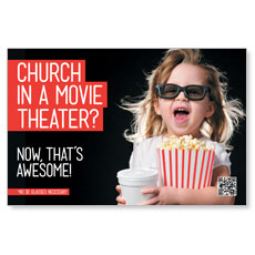 Movie Theater Church Postcard