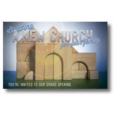 Church Building Blocks Postcard