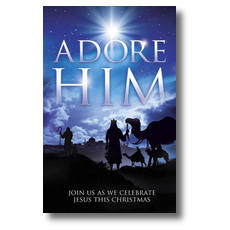 Adore Him Church Postcard