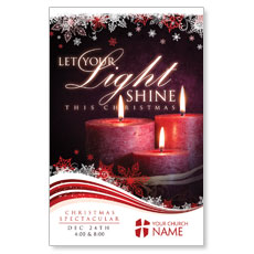 Light Shine Christmas Postcard