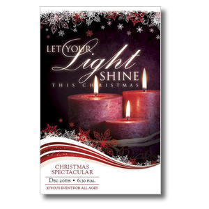 Light Shine Christmas Postcards