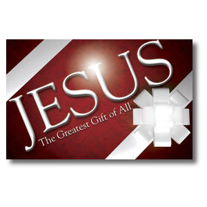 Jesus Greatest Gift Church Postcards