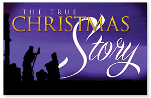 True Christmas Story Church Postcards