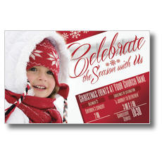 Celebrate the Season Church Postcard
