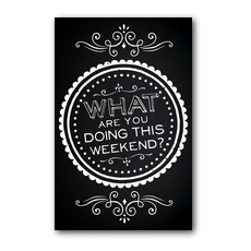 Chalk Weekend Postcard