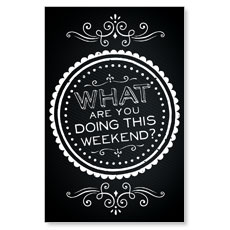 Chalk Weekend Postcard