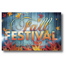 Fall Fest Blue Postcard