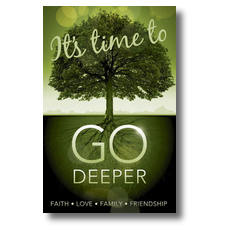 Go Deeper Time Postcard