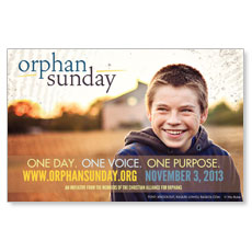 Orphan Sunday Postcard