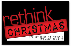 Rethink Christmas DIY Postcard Packs