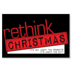 Rethink Christmas Postcard