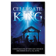 Celebrate the King M Postcard