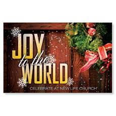 Joy Wreath Postcard