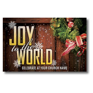 Joy Wreath Postcards