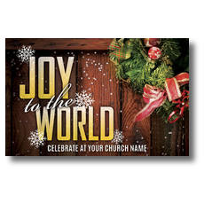 Joy Wreath Postcard