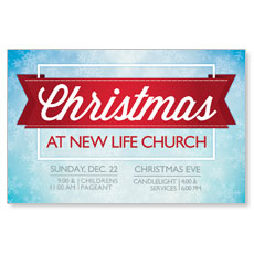 Christmas Red Ribbon Postcard