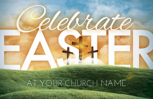 easter landscape postcard church postcards outreach marketing