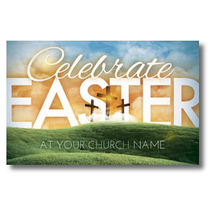 Easter Landscape Church Postcards