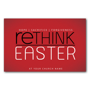 Rethink Easter Church Postcards