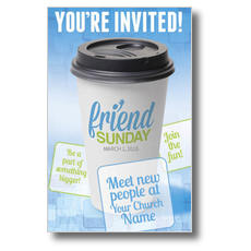 Friend Sunday Coffee Postcard