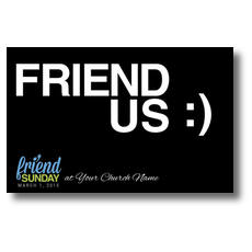Friend Sunday Black Postcard