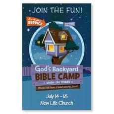 Gods Backyard Bible Camp Postcard