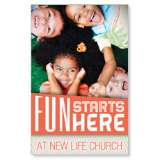 Fun Starts Here Postcard
