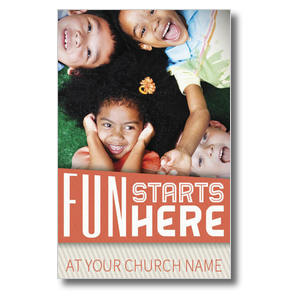Fun Starts Here Postcards
