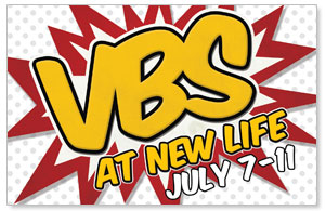 VBS Red Burst Postcards