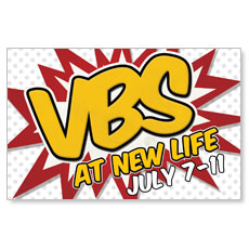 VBS Red Burst Postcard