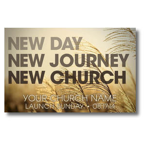 New Day New Church Postcards