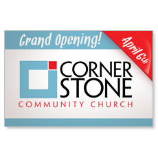 Grand Opening Logo Postcard