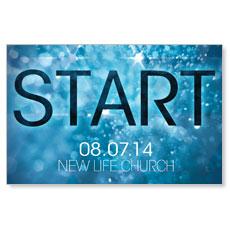 Start Blue Postcard
