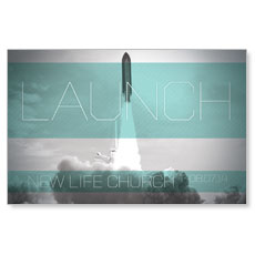 Launch Rocket Postcard