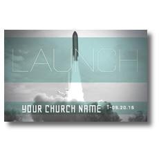 Launch Rocket Postcard