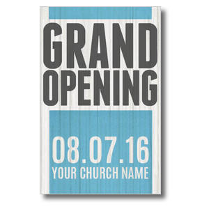 Grand Opening Wood Postcards