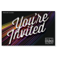 Color Flow Youre Invited Postcard